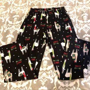 Fa La La Llama Christmas Pajama Pants size Small